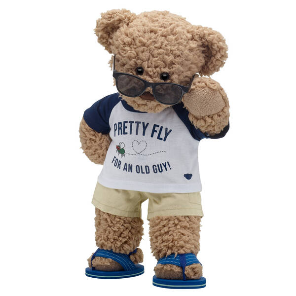 Online Exclusive Timeless Teddy Pretty Fly for an Old Guy Gift Set, , hi-res