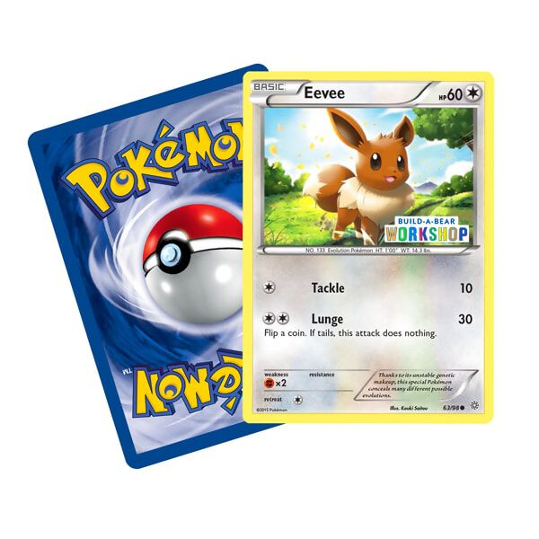 Build-A-Bear Workshop Exclusive Pokémon Eevee TCG Card, , hi-res