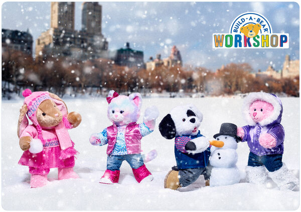 A Build-A-Bear Workshop e-gift card is the perfect way to have flurries of fun this winter! This fun-filled e-gift card is sure to warm anyone's heart.