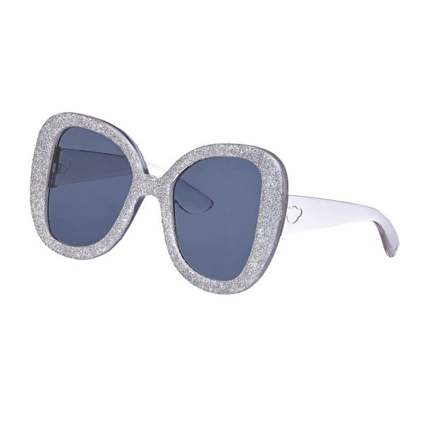 Honey Girls Silver Glitter Sunglasses, , hi-res