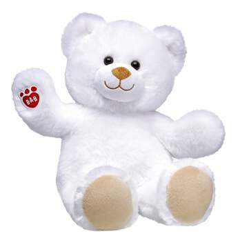 Ready for a bear hug that will melt your heart? With fluffy white fur and toasty brown paw pads, Lil' Marshmallow Cub is ready to spread some love. With the red B-A-B pawprint on its right paw, Lil' Marshmallow Cub can be also outfitted in a sweet variety of outfits and accessories.