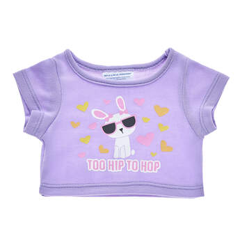 Online Exclusive Purple Too Hip to Hop T-Shirt - Build-A-Bear Workshop®