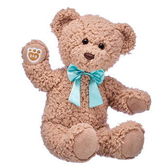 Online Exclusive Timeless Teddy with Blue Bow, , hi-res