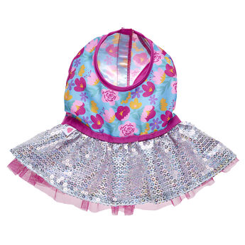 Floral Sequin Dress, , hi-res