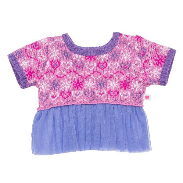Purple Fair Isle Sweater Dress - Build-A-Bear Workshop®