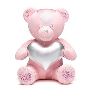 Online Exclusive From the Heart Build-A-Bear Collectible Dazzling with Swarovski® crystals - Silver Heart Gift Set, , hi-res