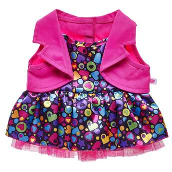 Rainbow Hearts 2-Fer Dress - Build-A-Bear Workshop®
