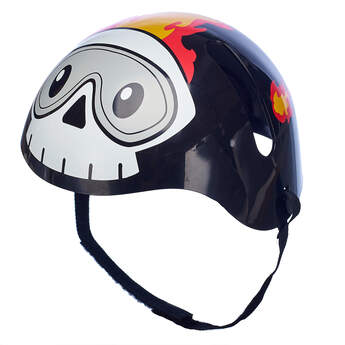 Black Skull and Flames Helmet - Build-A-Bear Workshop®