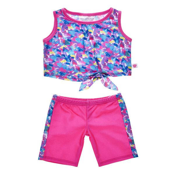 This Bright Tank & Pant set is perfect for your furry friend's active lifestyle! Find stuffed animals, clothing & accessories for any occasion at Build-A-Bear.