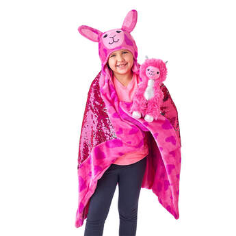 Shear Sparkle Llama & Big Hugs Blanket Set, , hi-res