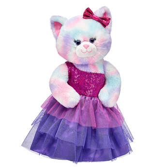 Pastel Swirl Kitty Sequin Dress Gift Set, , hi-res