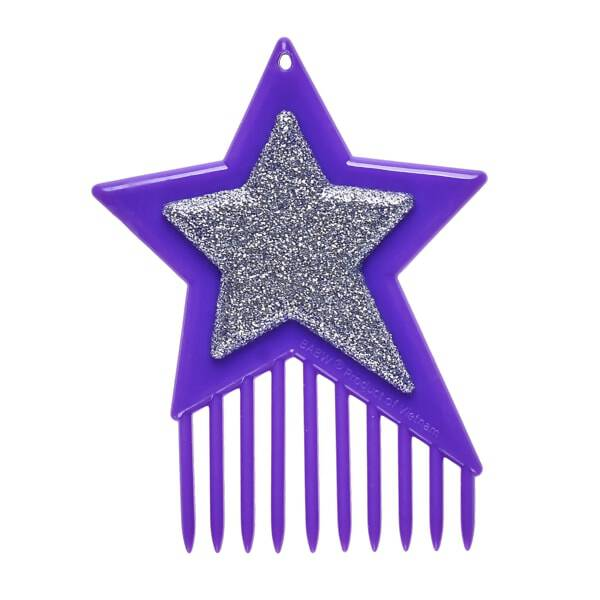 Keep your Honey Girls looking their absolute best with this fun hairbrush! This purple and silver brush is in the shape of the Honey Girls' star logo and is the perfect size for brushing their colourful hair!