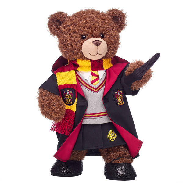 Harry Potter Bear Gryffindor Gift Bundle with House Robe, Scarf, Hogwarts Skirt & Wand, , hi-res