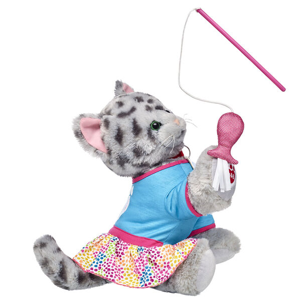 """This lovable Promise Pets™ Ocicat Kitten is ready to explore and play with its cute dress and plush cat toy! When it comes to great gift ideas for cat lovers, this adorable stuffed animal gift set is the cat's meow! <p>Price includes:</p>  <ul>     <li>Promise Pets™ Ocicat Kitten</li>    <li>Promise Pets™ Explore Dress</li>    <li>Promise Pets™ Cat Toy </li> </ul>"""