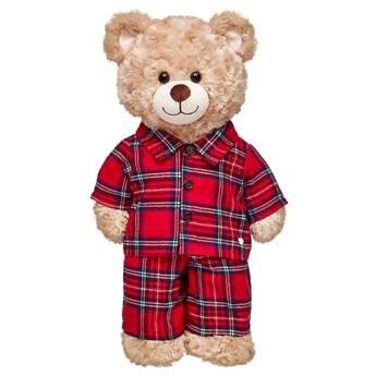 Bedtime gets a comfy cozy makeover with these warm PJs for your furry friend. The red top and bottoms have a plaid pattern and the soft fabric is ultra-snuggly.