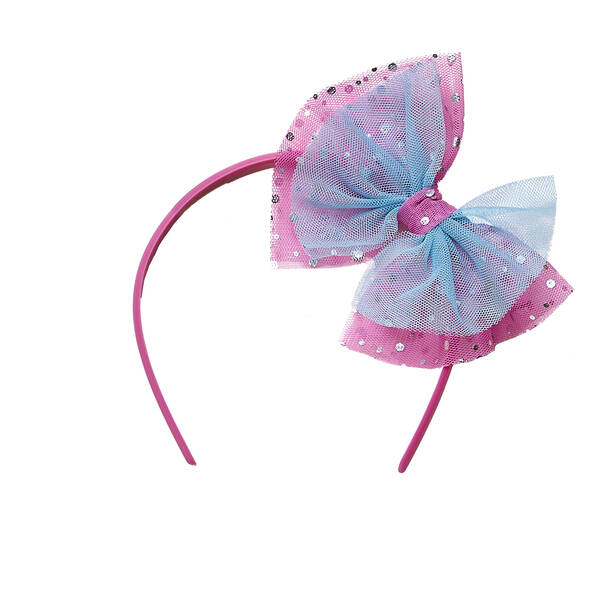 Get your paws on this cute tulle sparkle bow headband for stuffed animals to give your furry friend a burst of sparkly colour! Outfit a furry friend online to make the perfect gift. Make your own your own stuffed animal online with our Bear Builder or visit a store near you.