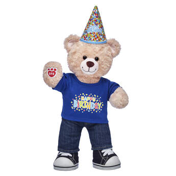 Happy Hugs Teddy Blue Birthday Gift Set, , hi-res