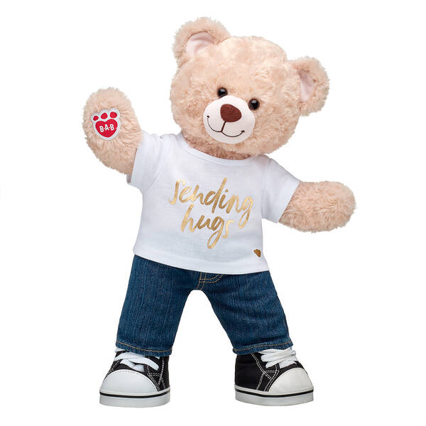 Online Exclusive Happy Hugs Teddy Gold Sending Hugs Gift Set, , hi-res