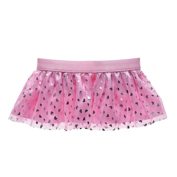 Go for the glam & the glory with this teddy-bear sized Pink Mesh Glam Skirt! Build-A-Bear Workshop offers hundreds of unique stuffed animal clothing & accessory options you won't find anywhere else. Outfit a furry friend online to make the perfect gift!