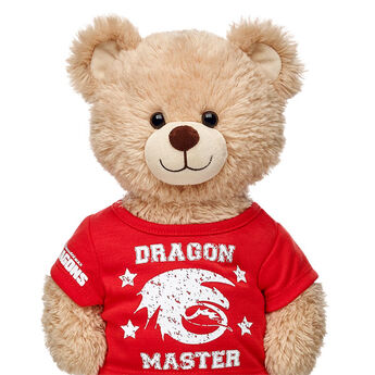 Love Dragons? Dress your furry friend in this Dragon Master T-Shirt. This teddy bear size red tee has a cool Dragon Master graphic on the front and the Dreamworks Dragons logo on the sleeve.DREAMWORKS DRAGONS © 2015 DREAMWORKS ANIMATION L.L.C.