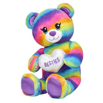 A colourful gift idea for your bestie! This bright and cuddly teddy bear is super cute holding a plush heart in its paws. Rainbow Friends Bear makes for a thoughtful surprise gift! <p>Price includes:</p>  <ul>    <li>Rainbow Friends Bear</li>    <li>Besties Heart Wristie  </li> </ul>""