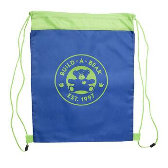Blue Reusable Drawstring Backpack, , hi-res