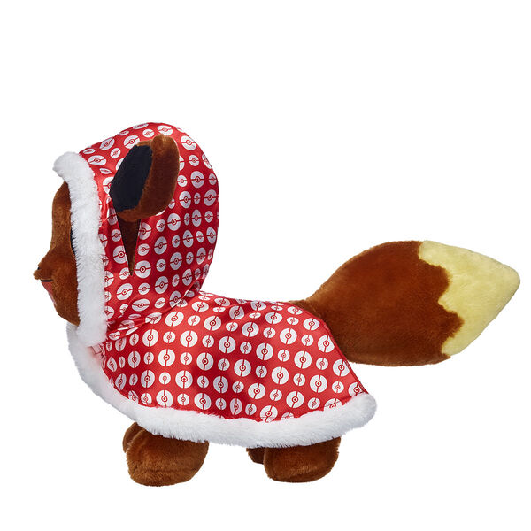 Brr! It's cold outside but your Pokémon friend will be super warm in this stylish winter cape. This bright red cape has a festive all-over Poké Ball pattern and a white fur trim for extra warmth. The hood also has openings for your furry friend's ears!  ©2018 The Pokémon Company International. ©1995–2018 Nintendo / Creatures Inc. / GAME FREAK inc. TM, ®, and character names are trademarks of Nintendo.
