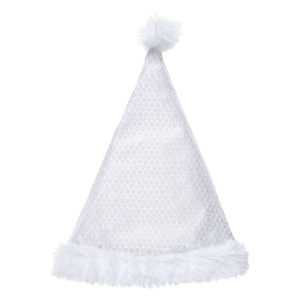White Sequin Santa Hat, , hi-res