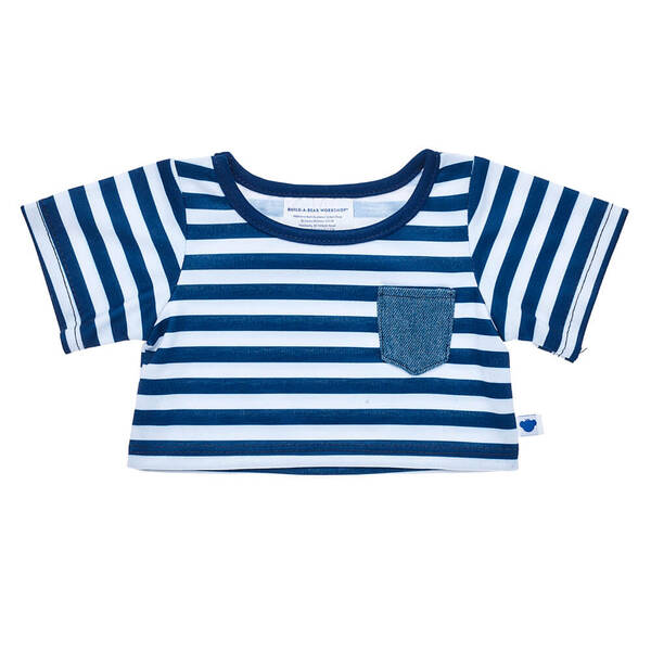 Blue and White Striped T-Shirt - Build-A-Bear Workshop®