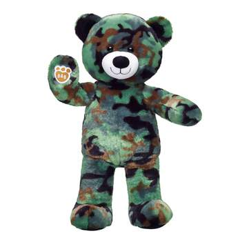 As a fitting gift for veterans or service men and women, the Camo Bear serves as a salute to bravery. With camouflage fur and the B-A-B logo on its paw pad, the Camo Bear will stealthily make its way into your heart!