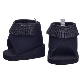 The Honey Girls always have the hottest footwear, and these black fringe boots are no exception! These stylish black boots feature a fringe detail that looks perfect on any of your Honey Girls. Get ready to hit the stage with these fun boots!