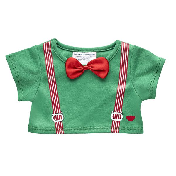 Red & Green Suspender Tee, , hi-res