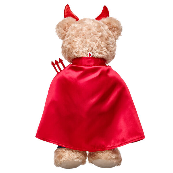 Your furry friend will look devilishly adorable in this cute costume set! This three piece costume consists of a red satin devil's cape, a red horned headband and a miniature red pitchfork to complete the look. It's a great look for any furry friend who likes to make some mischief!