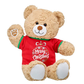Online Exclusive Cuddly Brown Bear Merry Christmas Gift Set, , hi-res