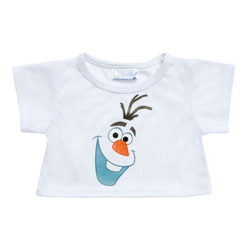 Everyone's dreaming of summer! This bear-sized Olaf Tee looks great on any furry friend. It features a cool Olaf graphic and makes the perfect addition to any Frozen plush gift. © Disney