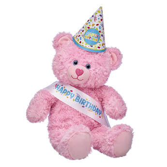 Pink Cuddles Teddy Bear Birthday Party Gift Set, , hi-res
