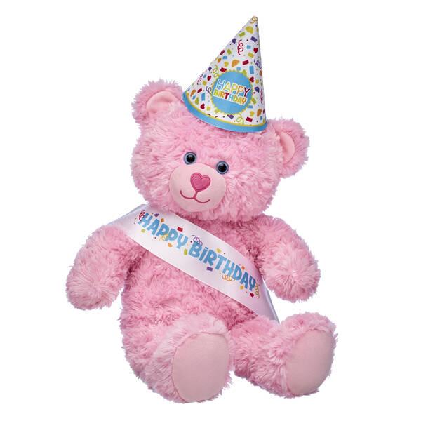 Pink Cuddles Teddy Bear Birthday Party Gift Set, , hi-res