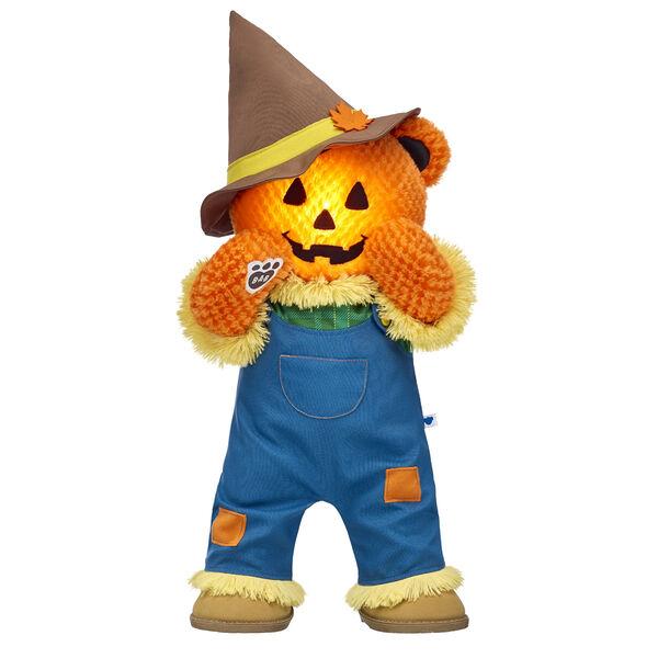 Pumpkin Glow Bear Scarecrow Gift Set, , hi-res