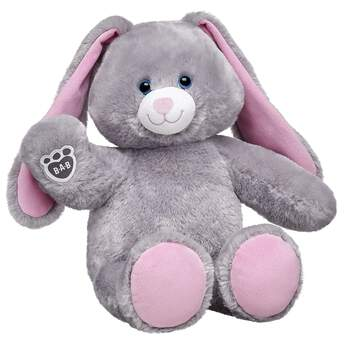 Straight from the garden to your heart, this super soft bunny features soft grey fur with pink ears and paw pads. The B-A-B pawprint adorns its paw. Even bunnies want to look their best, so suit up Garden Grey Bunny with great clothing and accessories. Garden Grey Bunny is available online only.