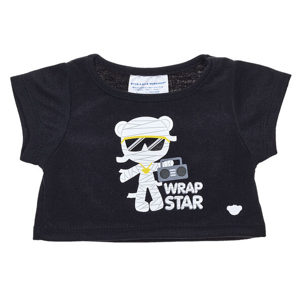 This mummy isn't missing a beat! This cute Wrap Star T-shirt for stuffed animals provides a spooky cool look for any furry friend. Personalize a stuffed animal or teddy bear with this shirt and other cute clothing to make the perfect gift. Free shipping on orders over $45. Shop online now at Build-A-Bear Workshop.