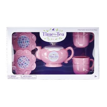 Experience the timeless joy of having tea parties with this traditional and elegant Time for Tea Set! This five piece set has everything you need for a successful tea party with your furry friend. A fashionably light pink color, this set consists of one tea pot, two tea cups and two saucer plates. Whether playing indoors or outdoors, this Time for Tea Set perfectly matches Time for Tea Bear and has everything you and your furry friend need for the complete tea party experience!