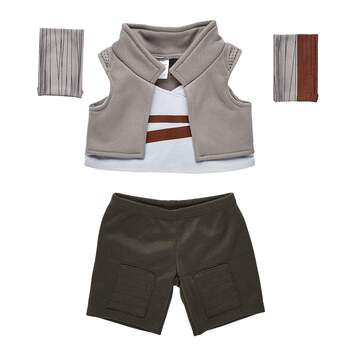 Ready for epic adventures? Your furry friend can scavenge desert planets in this four-piece Rey costume! Rey's official vest, pants and detached sleeves are all featured in this super cool Star Wars costume. © & ™ Lucasfilm Ltd.
