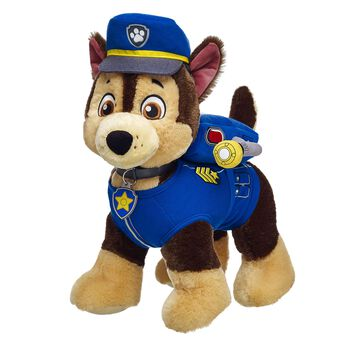 Chase is on the case! The PAW Patrol's German Shepherd police pup is a natural leader. He's athletic, smart, organized and can solve any mystery. Personalize him with clothing and accessories to make the perfect unique gift for any PAW Patrol recruit.© 2015 Spin Master PAW Productions Inc. All Rights Reserved. PAW Patrol and all related titles, logos and characters are trademarks of Spin Master Ltd. Nickelodeon and all related titles and logos are trademarks of Viacom International Inc.