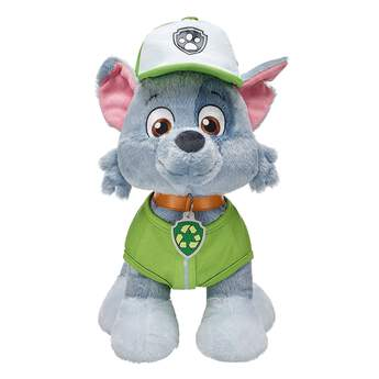 Rocky's signature vest and hat is the perfect outfit for this recycling pup. © 2017 Spin Master PAW Productions Inc. All Rights Reserved. PAW Patrol and all related titles, logos and characters are trademarks of Spin Master Ltd. Nickelodeon and all related titles and logos are trademarks of Viacom International Inc.