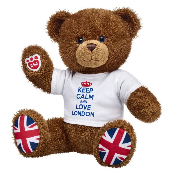 Posable Union Jack Bear Gift Set, , hi-res