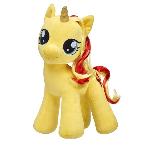 Go on a magical pony adventure with Sunset Shimmer by your side! Once a former student of Princess Celestia herself, this bright unicorn pony is at Build-A-Bear for the first time ever! Outfit this furry friend online to make the perfect gift. Free shipping on orders over $45. Shop online or visit a store near you!