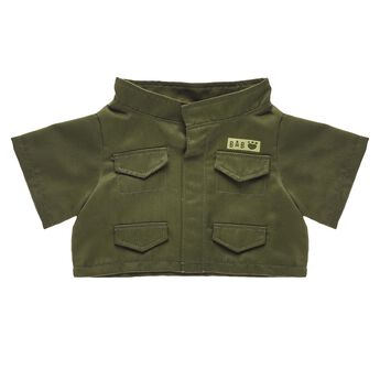 Salute the armed forces with this bear-sized olive green Army jacket! A furry friend dressed in this jacket makes a thoughtful gift for any veteran or family member of someone who serves. Personlize a furry friend to make the perfect gift. Shop online or visit a store near you!