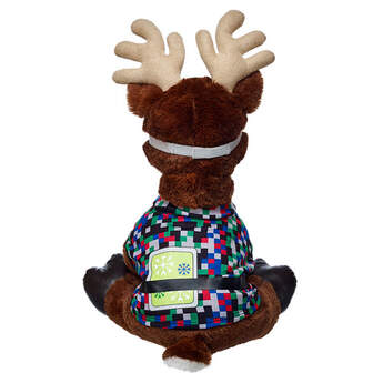 Comet's Tech Coat & Goggles look great on any furry friend. His signature coat has black, green, red, blue and silver squares, plus a graphic of his tablet tucked into his belt. His goggles help him see while he flies! Reindeer sold separately.