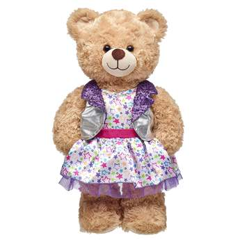 Your furry friend will shine on stage with this awesome Purple Honey Girls Dress! Shop the full Honey Girls line at Build-A-Bear Workshop.