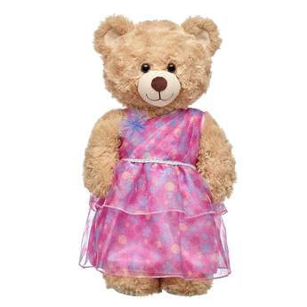 This layered, flowing pink gown for stuffed animals will have your furry friend looking pretty in pink! Outfit a furry friend online to make the perfect gift. Make your own your own stuffed animal online with our Bear Builder or visit a store near you.